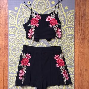 FashionNova Floral Two Piece Set